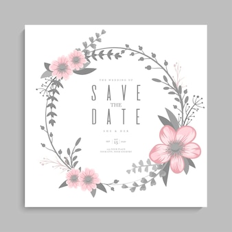 Bloemenhuwelijkssjabloon - roze bloemenkroon