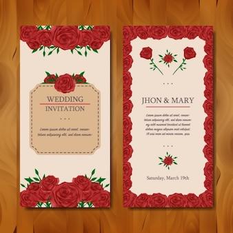 Bloemenhuwelijksuitnodiging ontwerp