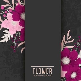 Bloemenkader met kleurrijke bloem.
