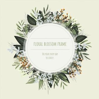 Bloemenkader voor uitnodigingskaarten en afbeeldingen.