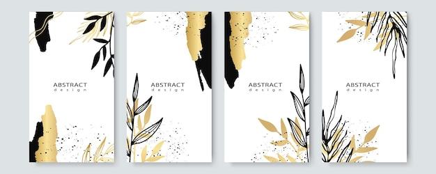 Bloemenkaderontwerp. huwelijksuitnodiging arrangement. botanische samenstelling. handgetekende bloemen. samenstelling voor kaart, uitnodiging, bewaar de datum. witte en gouden bloemenborstel aquarel
