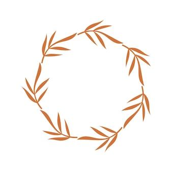 Bloemenkaderontwerp. vector illustratie.