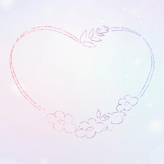 Bloemenkrans glitterrand hartvormig