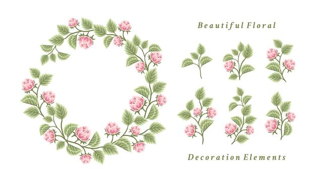 Bloemenkransarrangement en boeketelementverzameling