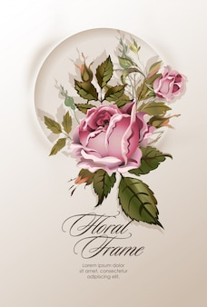 Bloemenkroon met uitstekende bloemen.