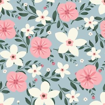 Bloemenkunstwerk voor kleding en mode stoffen, kleurrijke klimop stijl met bloemen krans met tak en bladeren. naadloze patronen achtergrond.