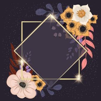 Bloemenlijst sjabloon. vector illustratie.