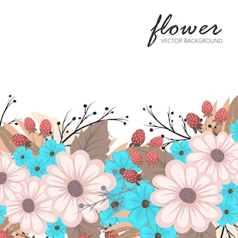 Bloemenlijst sjabloon.