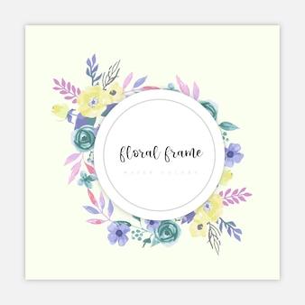 Bloemenlijst waterkleur