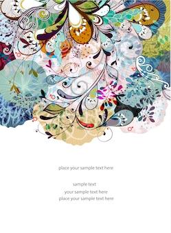 Bloemenmalplaatje ontwerp