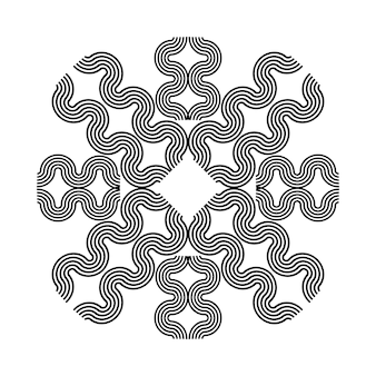 Bloemenmandala vintage decoratieve elementen oosters patroon