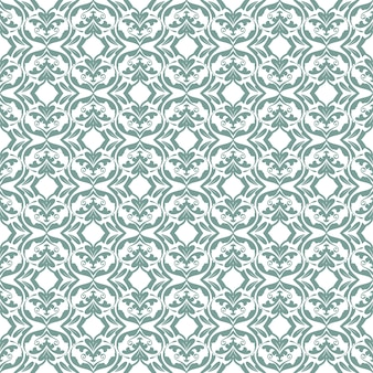 Bloemenpatroon. achtergrond barok, damast. naadloze vector achtergrond. donkere turquoise en wit ornament