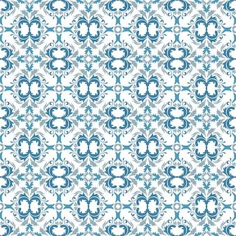 Bloemenpatroon. achtergrond barok, damast. naadloze vector achtergrond. hemelblauw, blauw en wit versiering