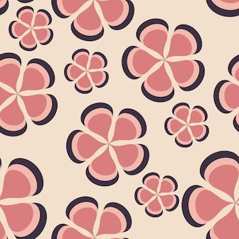 Bloemenpatroon achtergrond naadloos