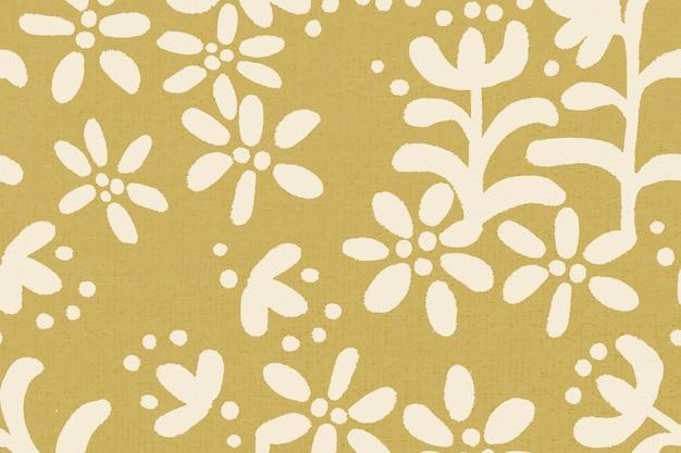 Bloemenpatroon etnische achtergrond vector, vintage design