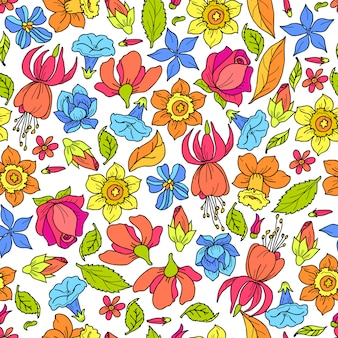 Bloemenpatroon gekleurd