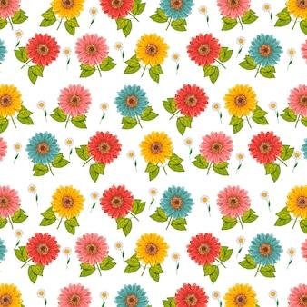 Bloemenpatroon voor ontwerp en lay-outbehanguitnodiging