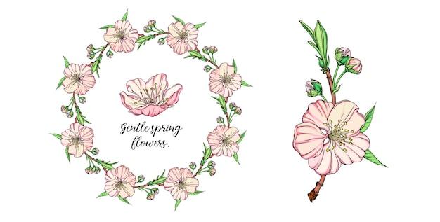 Bloemensamenstelling met de lentebloemen