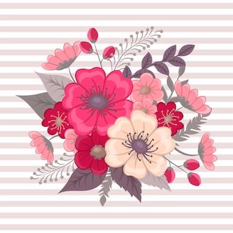 Bloemensamenstelling met kleurrijke bloem.