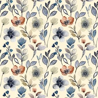 Bloemenwaterverf naadloos patroon