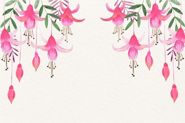 Bloemenwaterverfachtergrond met zachte kleuren