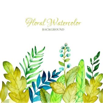 Bloemenwaterverfontwerp van achtergrond
