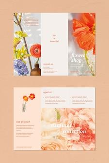 Bloemenwinkel brochure sjabloon