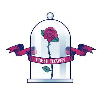 Bloemenwinkel illustratie