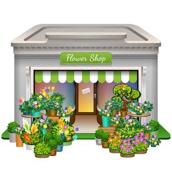 Bloemenwinkel pictogram