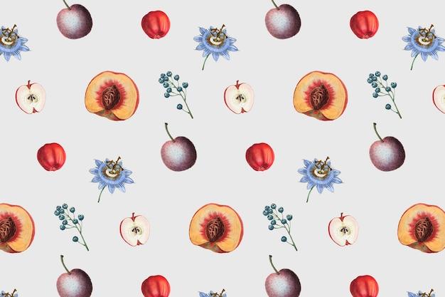 Bloemig fruitig frame-ontwerp