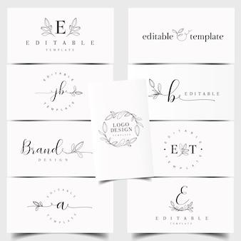 Bloemige logo-maker