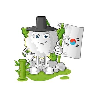 Bloemkool koreaans karakter