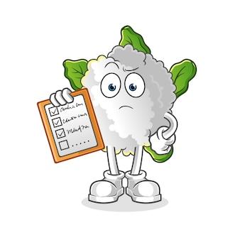 Bloemkool schema lijst