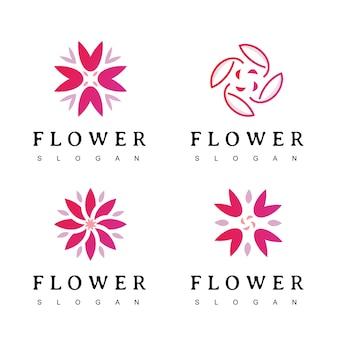 Bloemlogo voor cosmetica, spa, hotel, schoonheidssalon, decoratie, boetieklogo.