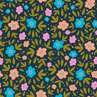 Bloempapier natuur textiel print naadloze patroon