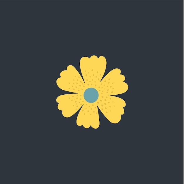 Bloemsymbool social media post bloemen vectorillustratie