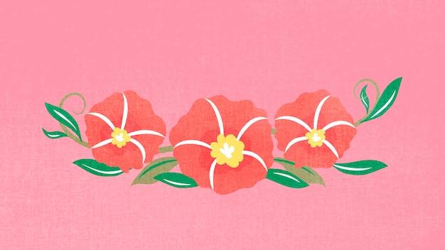 Bloemverdeler, roze platte ontwerp sticker vectorillustratie