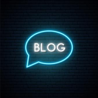 Blog neon teken.