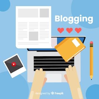Bloggen concept