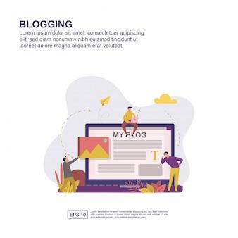 Bloggen presentatie, sociale media promotie, banner
