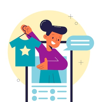 Blogger-beoordelingsconcept