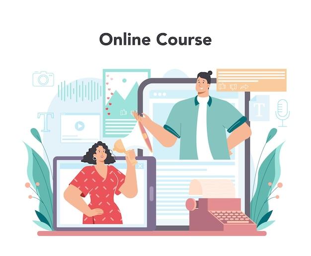 Blogger online service of platform