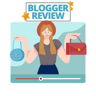 Blogger-recensie geïllustreerd