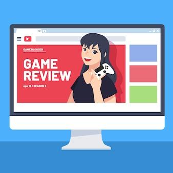 Blogger-recensie met internetvideo
