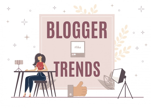 Blogger trends voor het verhogen van like op video, post.