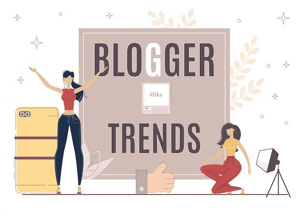 Blogger trends web publishing icon, copywriting.