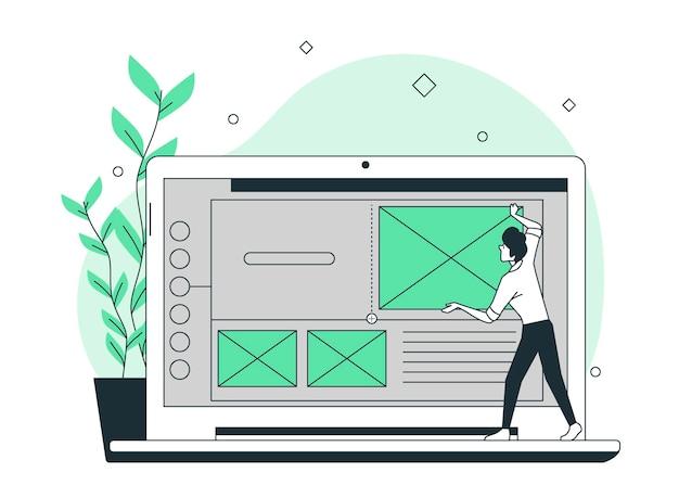 Blok concept illustratie invoegen