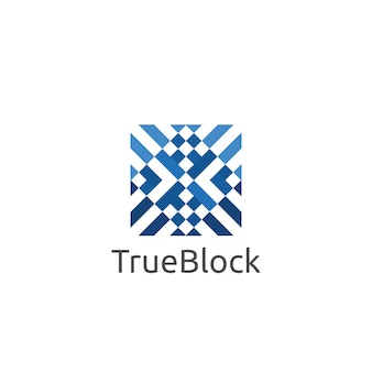Blok kubus patroon tapijt vloer of tegel muur logo