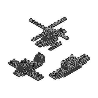 Blokken om ontwerp te bouwen