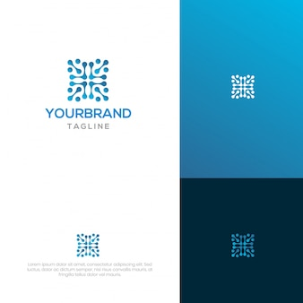 Blokketting logo-ontwerp